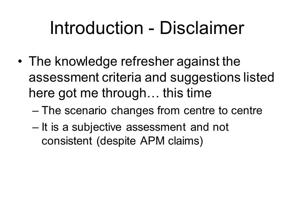 Assessment Criteria 1.