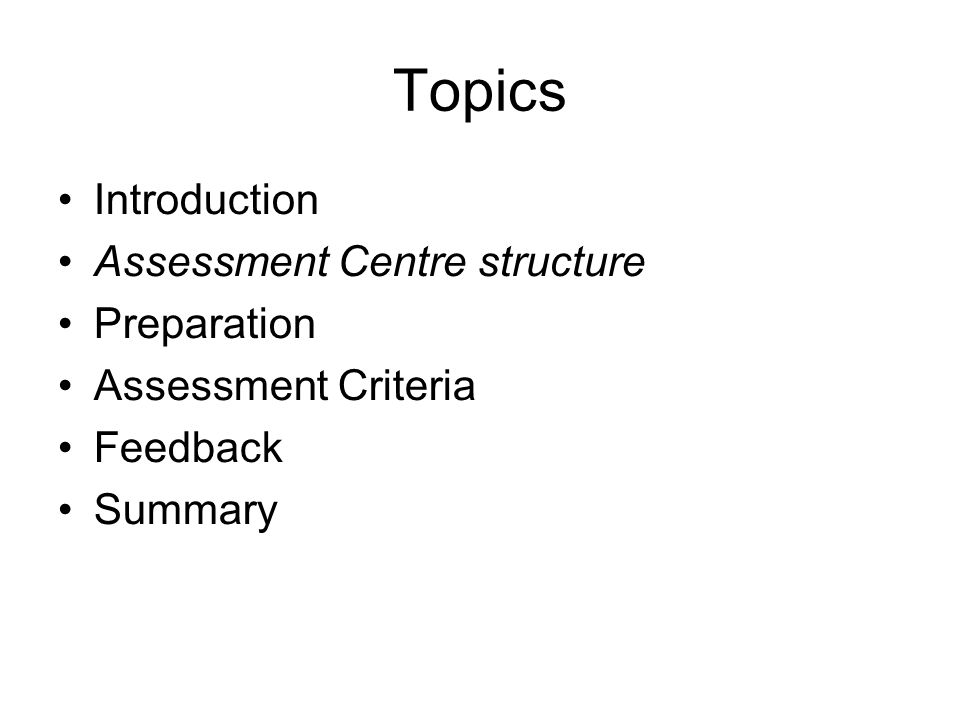 Assessment Criteria Session 3 Group - 2h15 - Preparing/planning for a Negotiation Meeting 1h30min to read and prepare, break, 45min of role plays and evaluation 14.