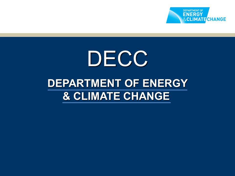 DECC DEPARTMENT OF ENERGY & CLIMATE CHANGE