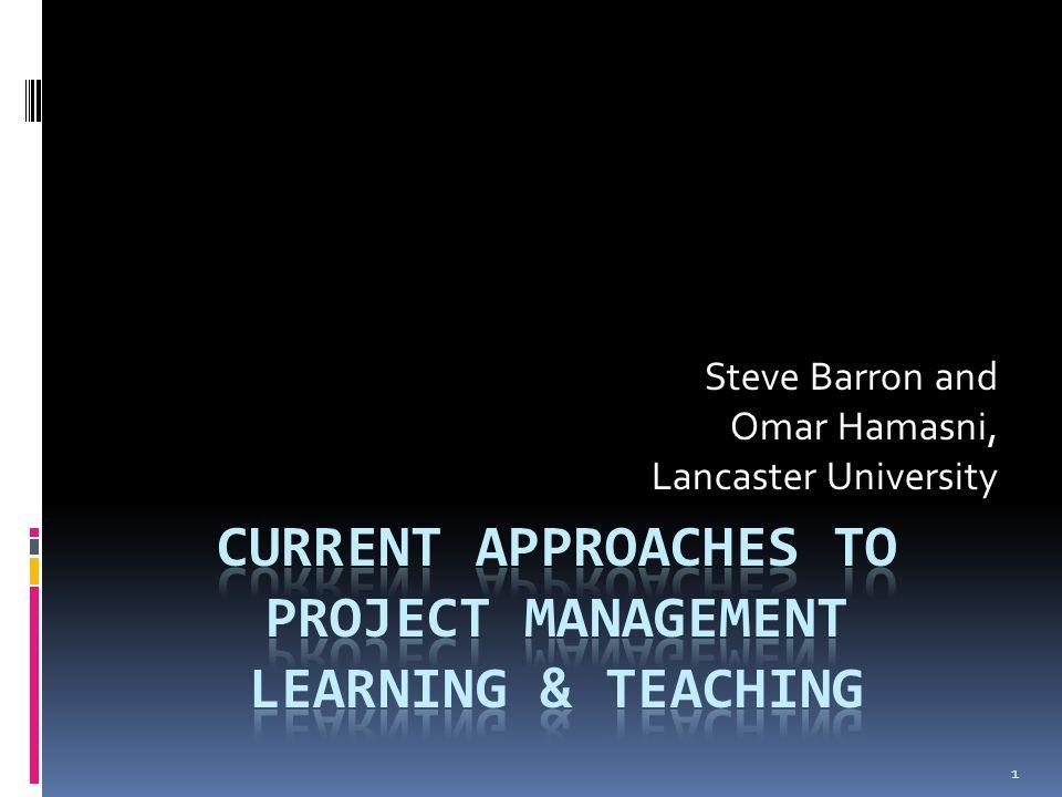 1 Steve Barron and Omar Hamasni, Lancaster University