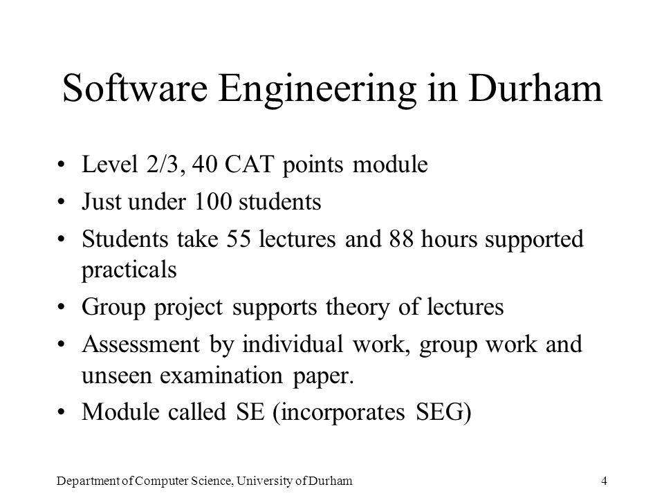 Department of Computer Science, University of Durham25