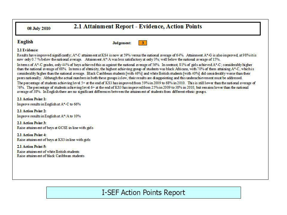 I-SEF Action Points Report
