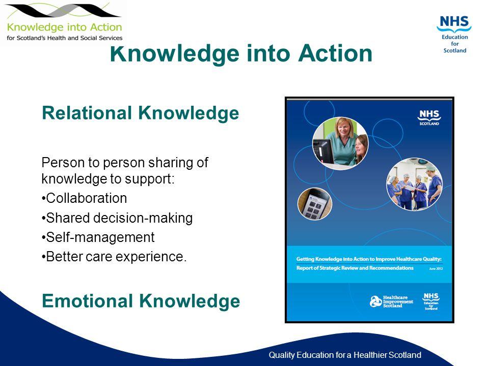 Quality Education for a Healthier Scotland Patient Information Navigator 1.