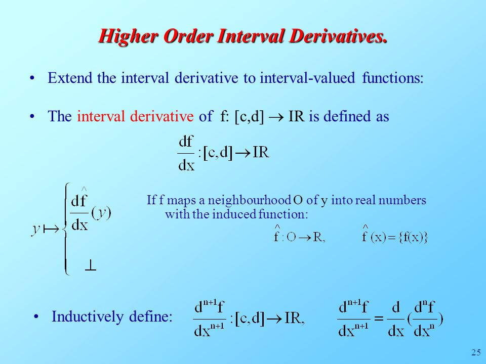 25 Higher Order Interval Derivatives.
