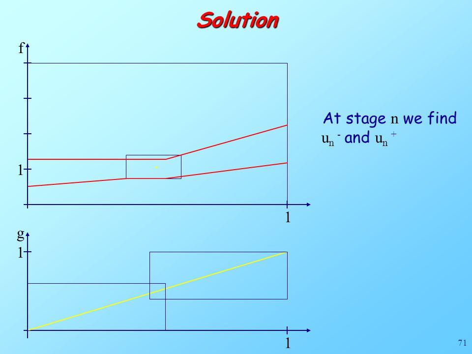 71Solution 1 f g 1 1 1. At stage n we find u n - and u n +