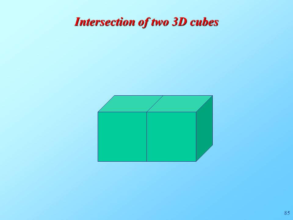 85 Intersection of two 3D cubes