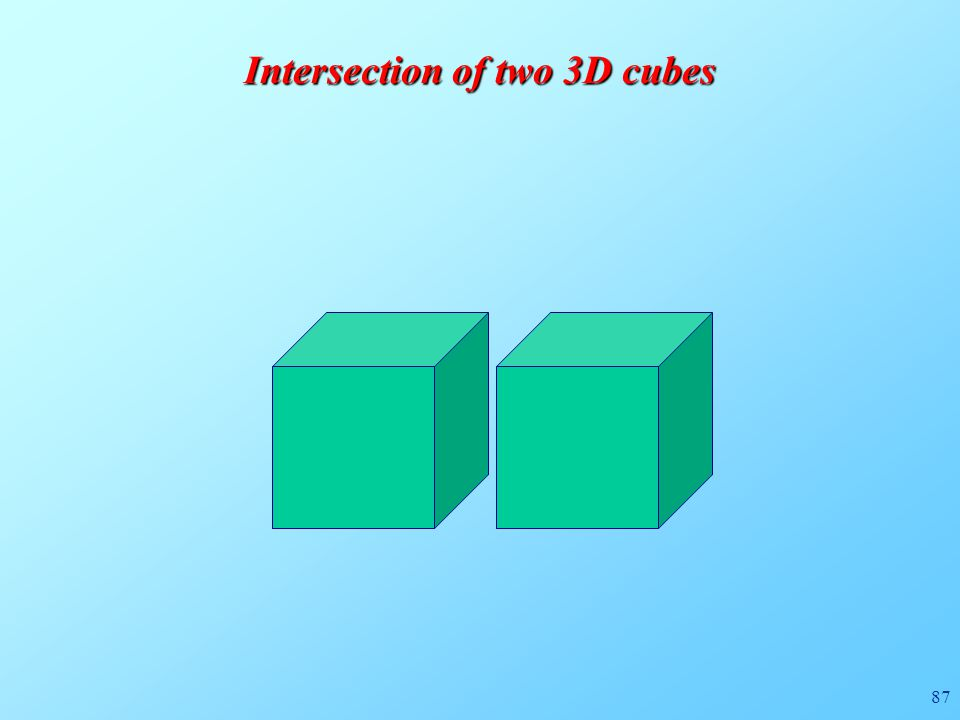 87 Intersection of two 3D cubes