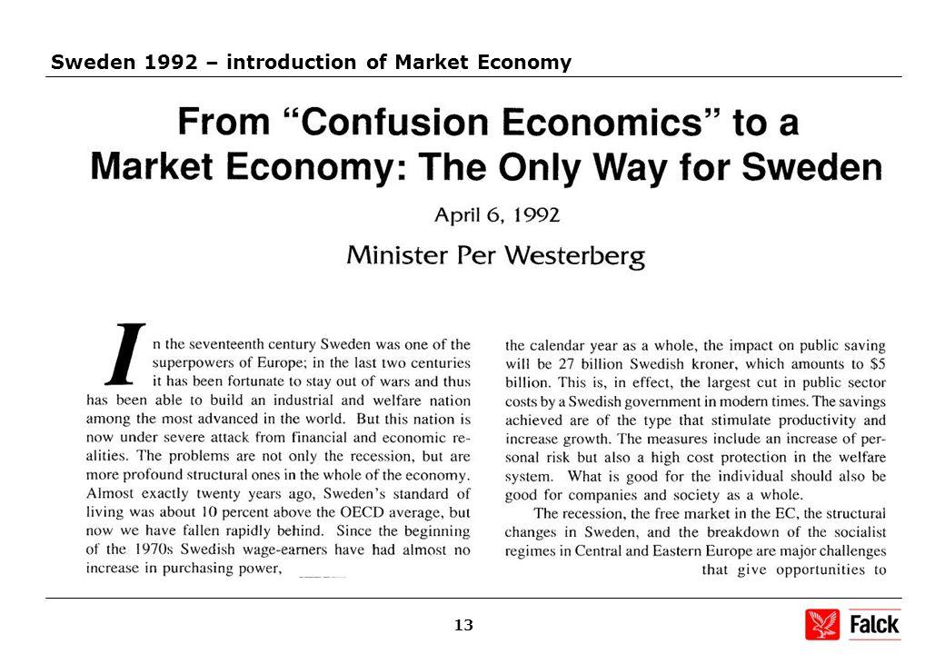 13 Sweden 1992 – introduction of Market Economy