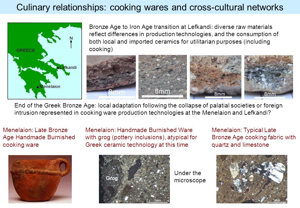 Culinary relationships: cooking wares and cross-cultural networks Menelaion: Late Bronze Age Handmade Burnished cooking ware Bronze Age to Iron Age tr