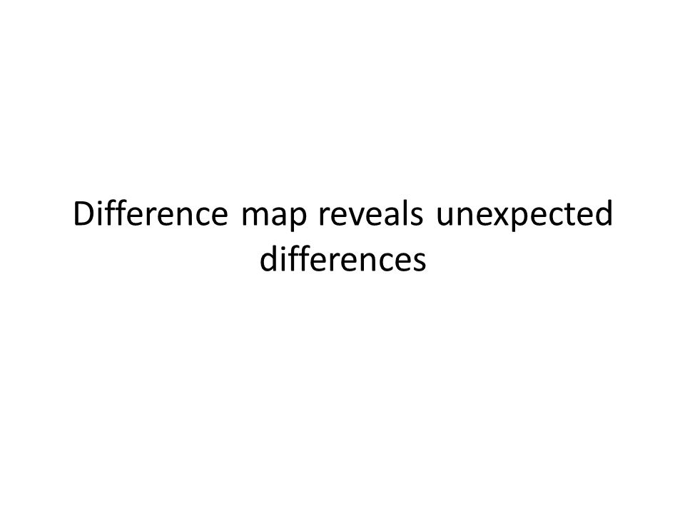 Difference map reveals unexpected differences