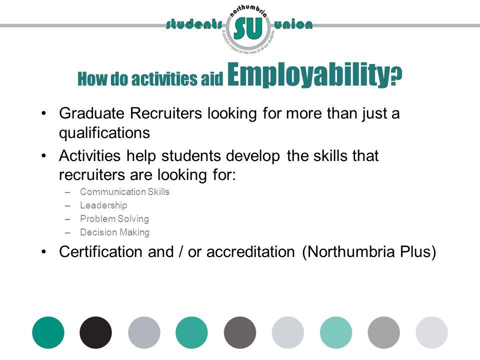 www.mynsu.co.uk How do activities aid Employability .