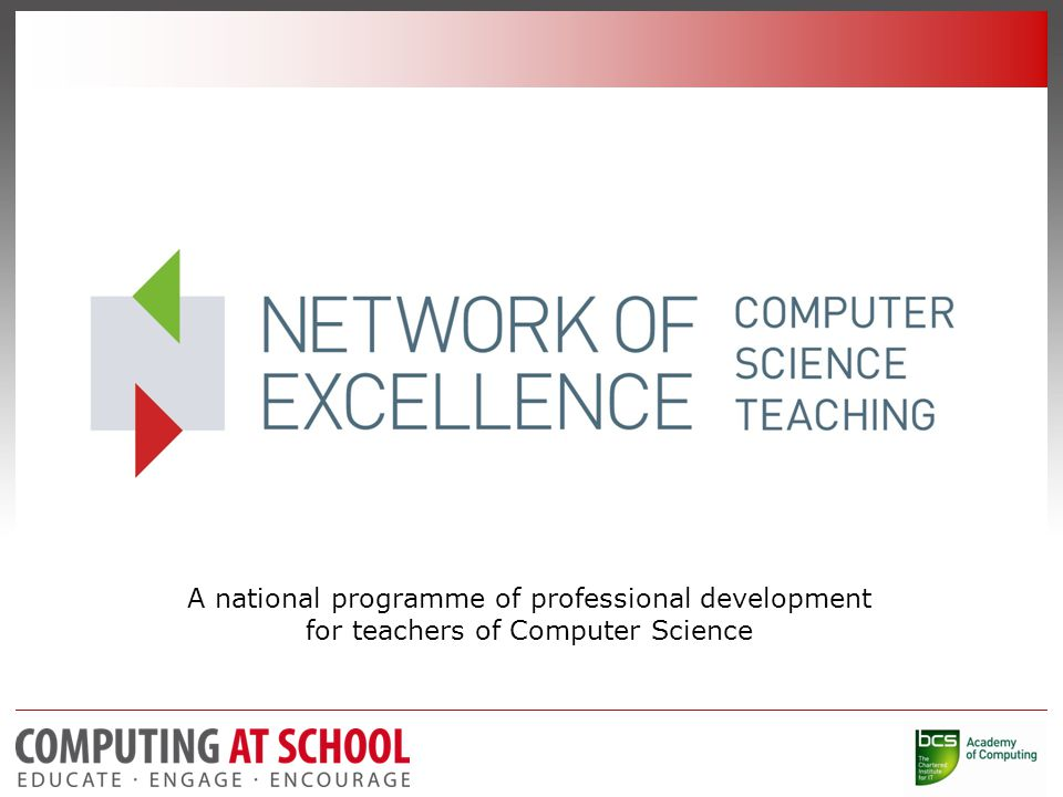 A national programme of professional development for teachers of Computer Science