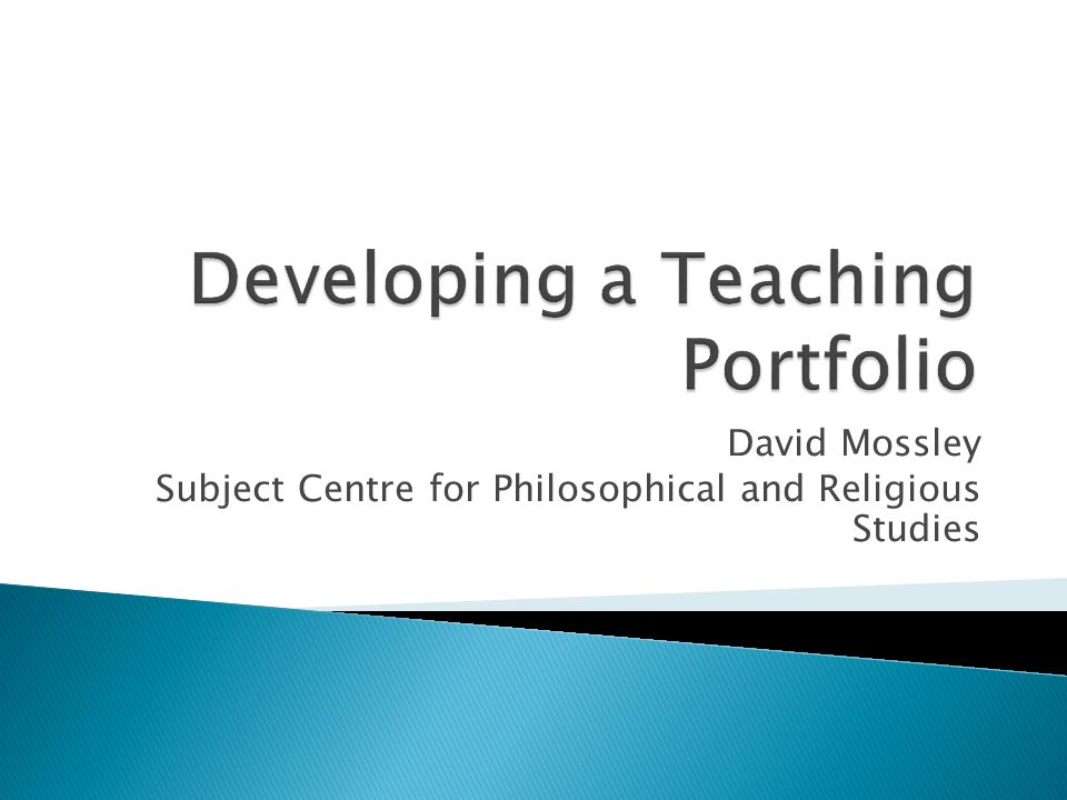 David Mossley Subject Centre for Philosophical and Religious Studies