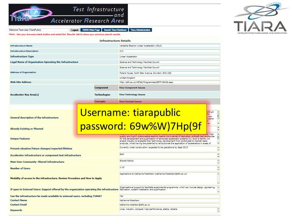 Anders Unnervik Username: tiarapublic password: 69w%W)7Hp(9f