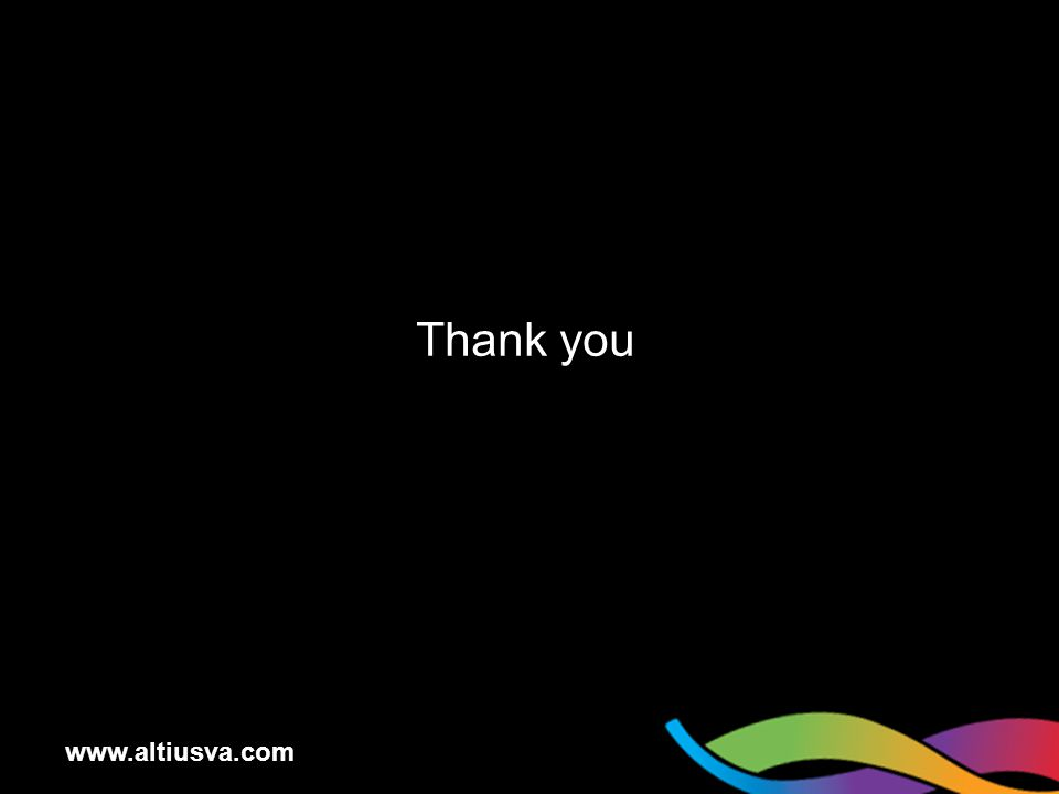www.altiusva.com Thank you