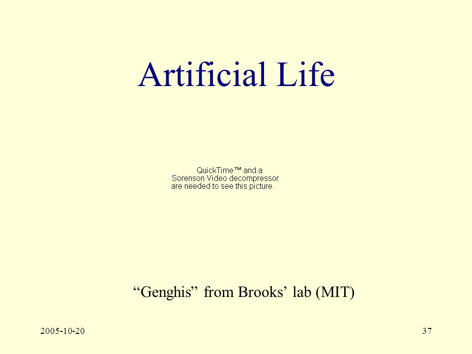 2005-10-2037 Artificial Life Genghis from Brooks' lab (MIT)