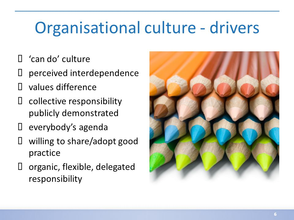 Organisational culture - barriers ✗ sees institutional and legal barriers ✗ isolationist ✗ senior figures disown common purpose ✗ competitive ✗ rigid bureaucratic controls, 'everything has to be checked' ✗ values uniformity 7