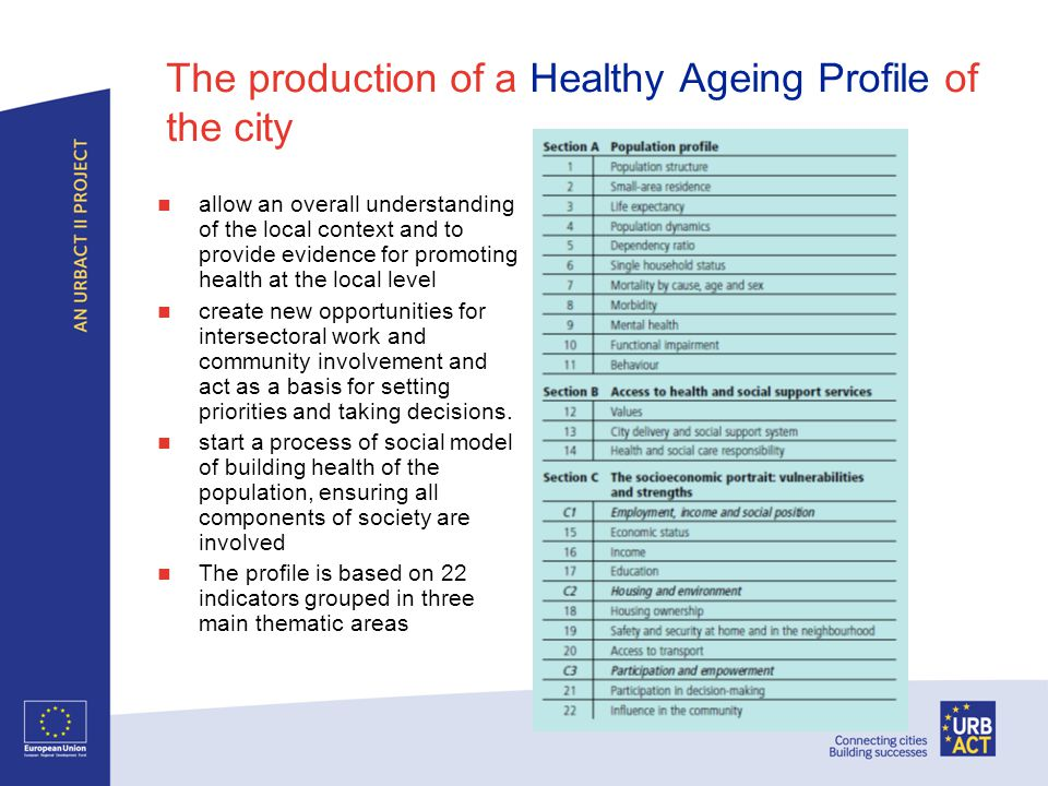 Building a Mapping System matching the distribution of older people in the city to the provision of public, health and social services offered at local level (using GIS) In Udine, this research was conducted in collaboration with the Statistics Department of the University of Udine.