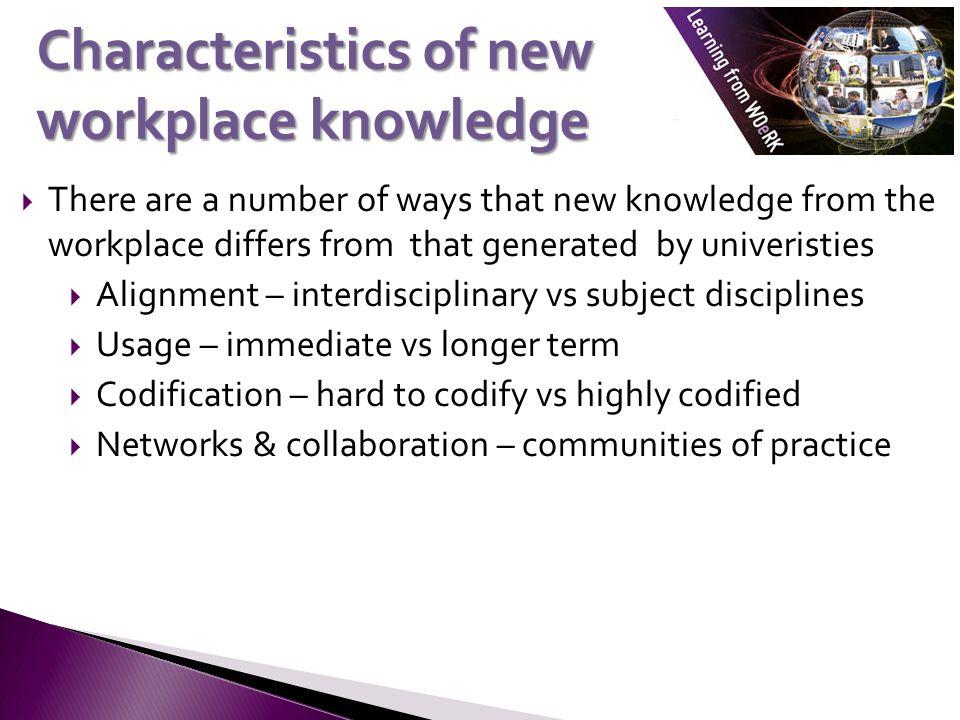 Workplace vs university settings Workplace settingUniversity setting PracticalTheoretical InterdisciplinaryDisciplinary InformalFormal AppliedFoundational ContextualGeneralisable