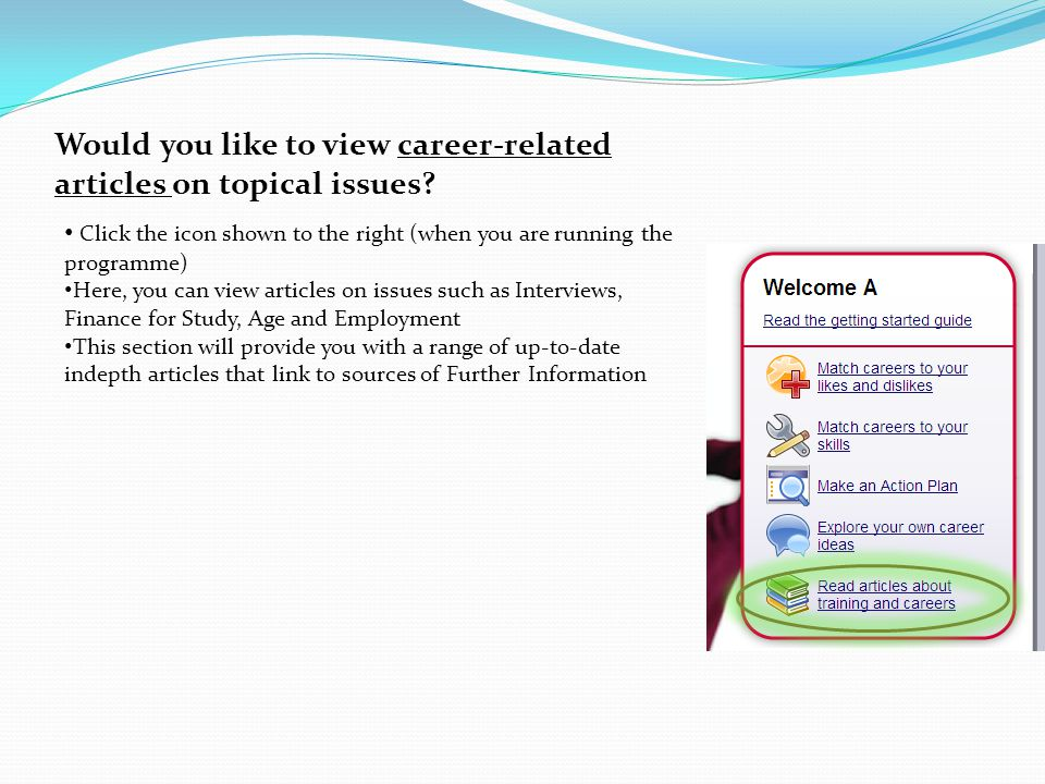 Would you like to view career-related articles on topical issues.