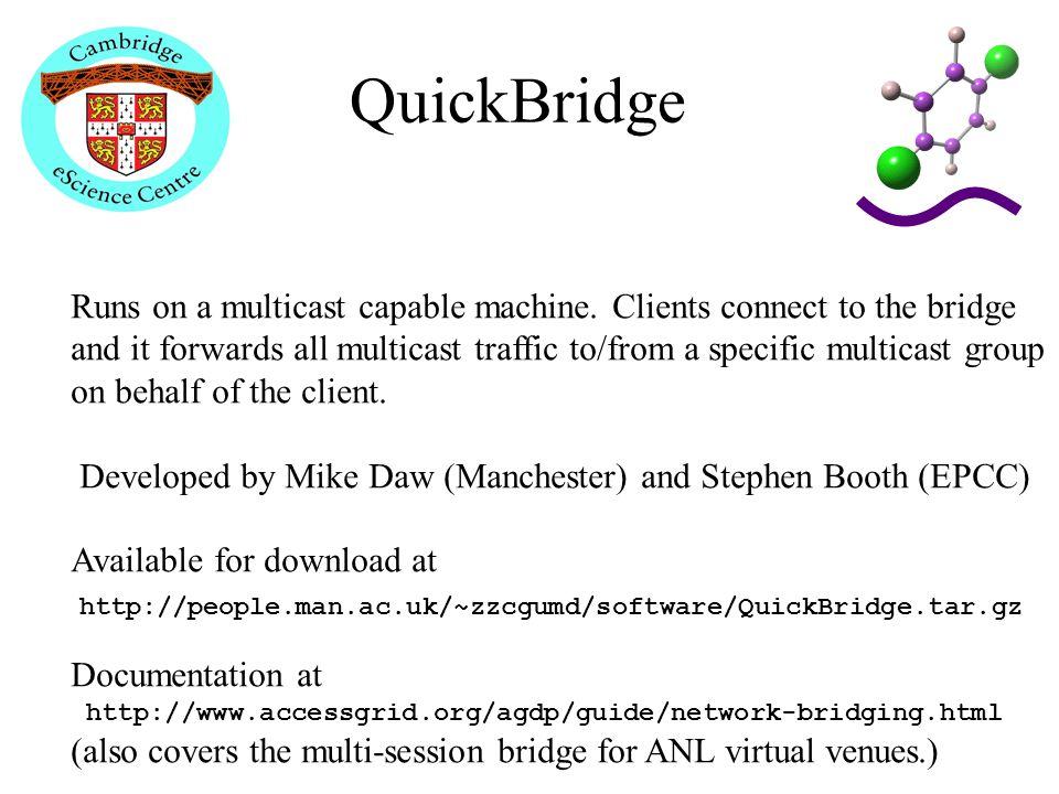 QuickBridge Runs on a multicast capable machine.