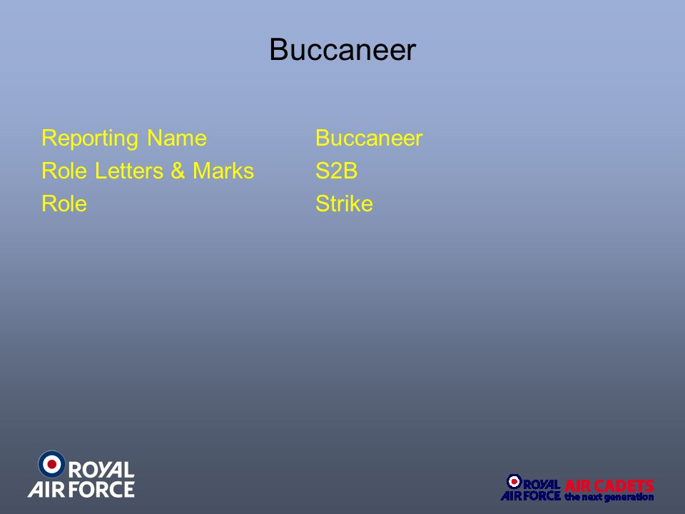 Buccaneer Reporting NameBuccaneer Role Letters & Marks S2B RoleStrike