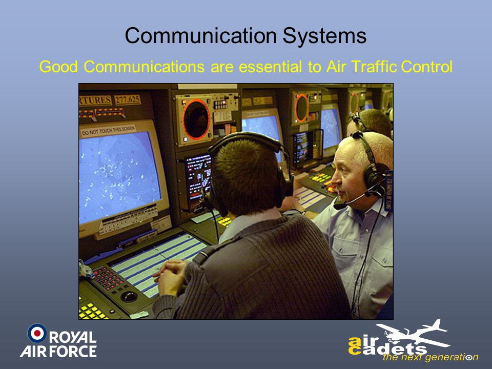 Communication Systems Good Communications are essential to Air Traffic Control