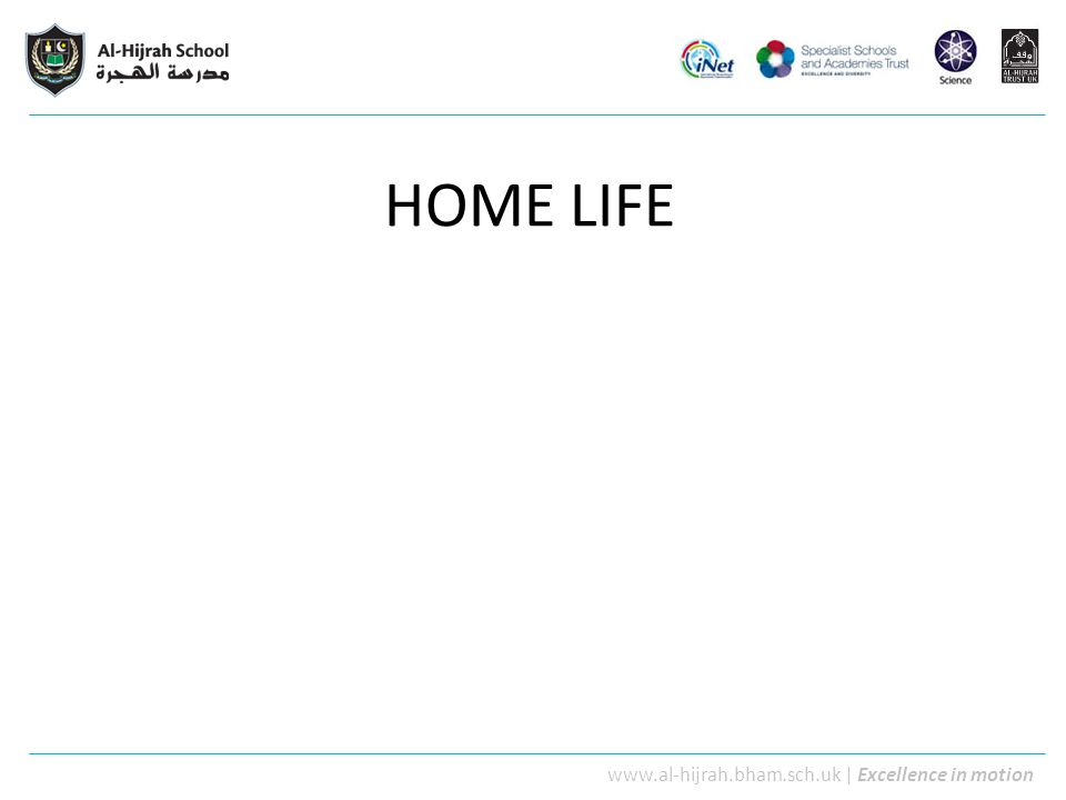 www.al-hijrah.bham.sch.uk | Excellence in motion Why is home life important.