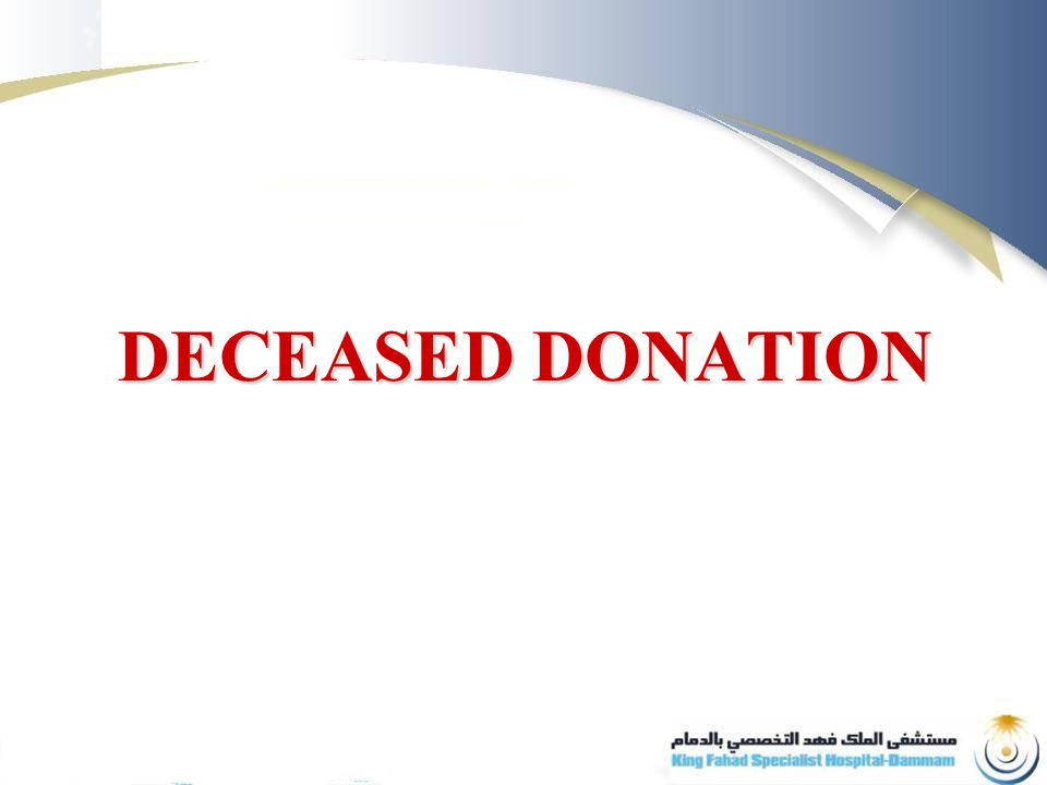 DECEASED DONATION
