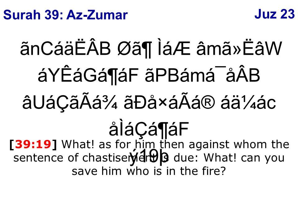 ãnCáäËÂB Ø㶠ÌáÆ âmã»ËâW áYÊáGá¶áF ãPBámá¯åÂB âUáÇãÃá¾ ãÐå×áÃá® áä¼ác åÌáÇá¶áF ý19þ [39:19] What.