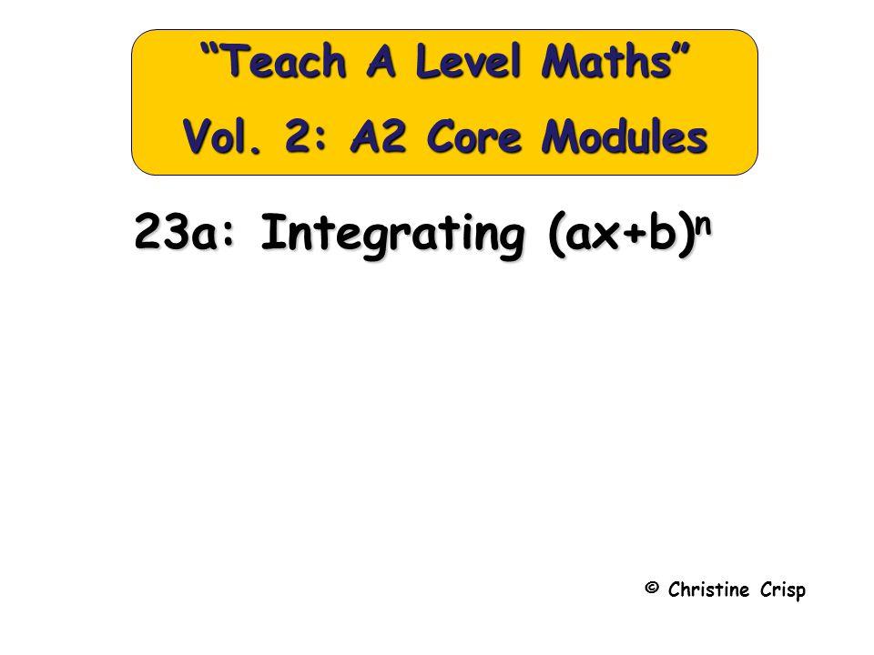Integrating (ax+b) n e.g.1.