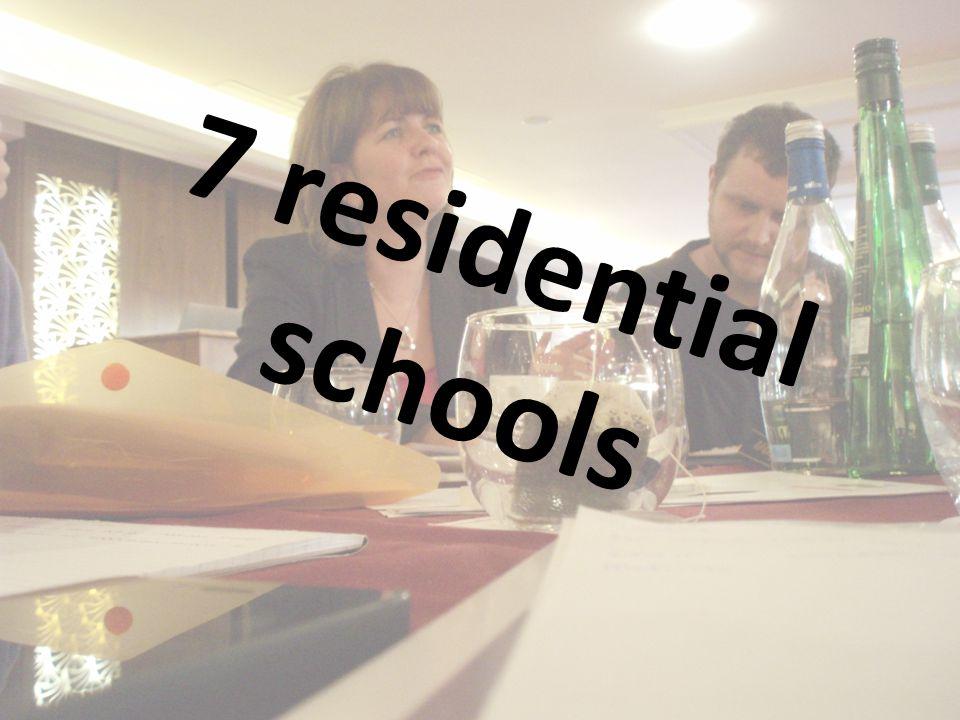 7 residential schools