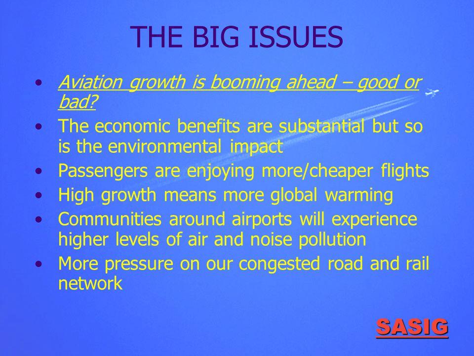SASIG THE BIG ISSUES Aviation growth is booming ahead – good or bad.