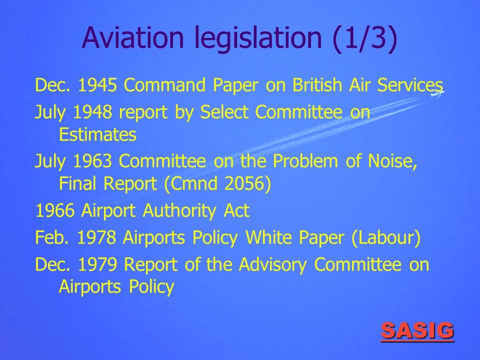SASIG Aviation legislation (1/3) Dec.