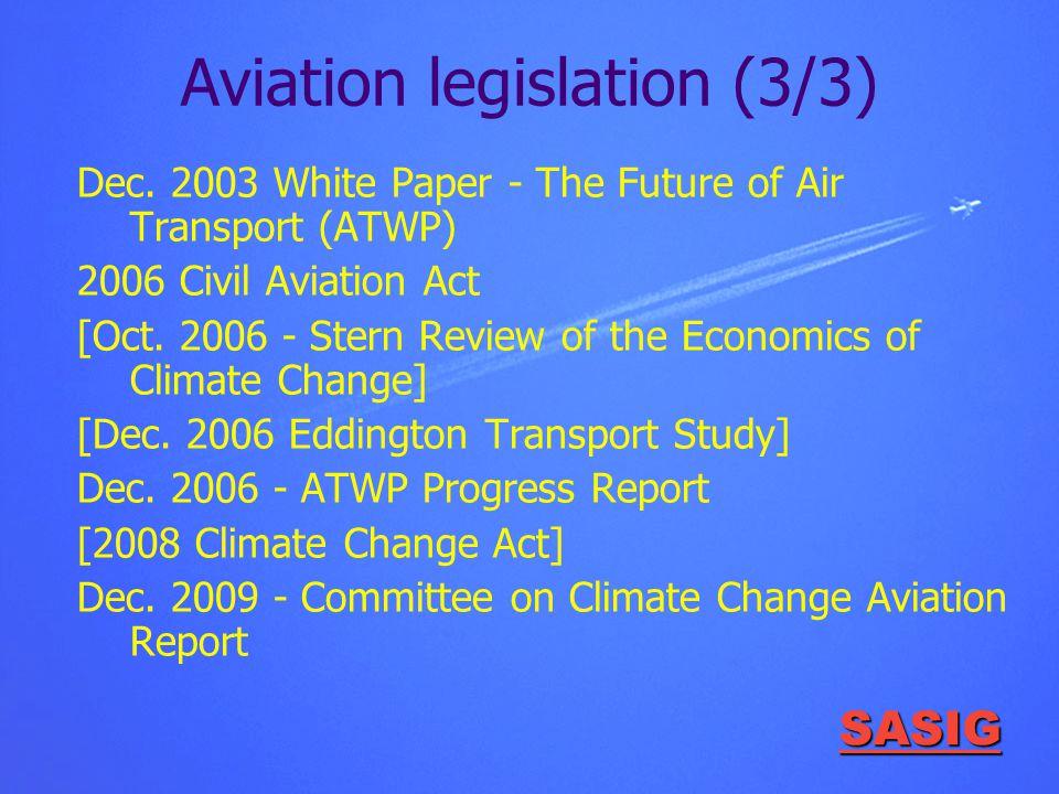 SASIG Aviation legislation (3/3) Dec.