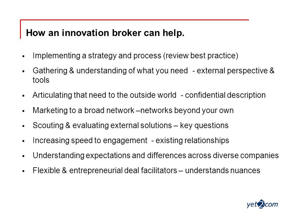 How an innovation broker can help.