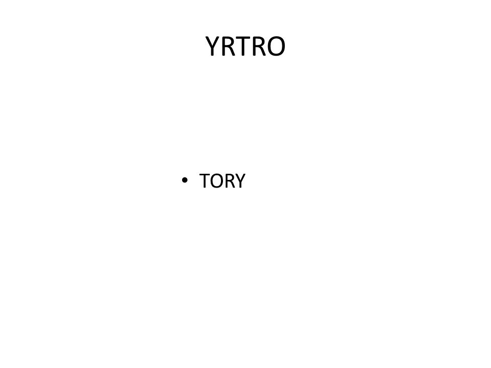 YRTRO TORY
