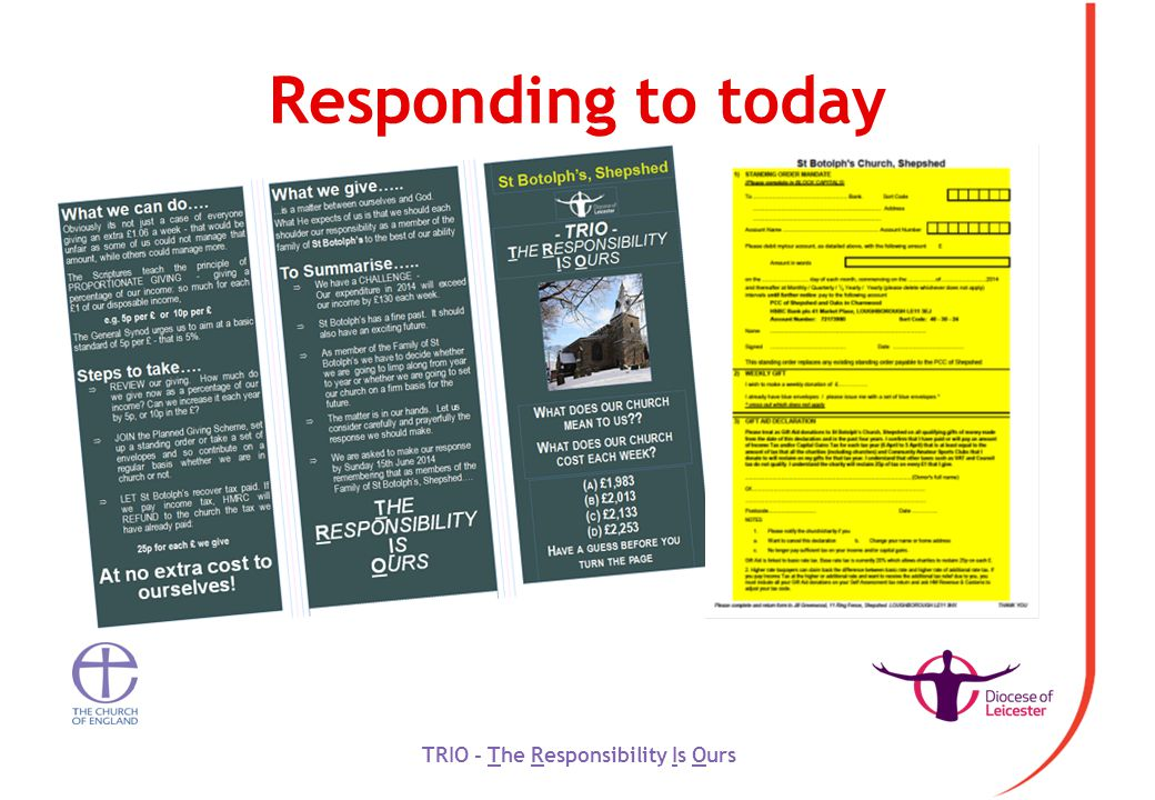 Responding to today TRIO - The Responsibility Is Ours