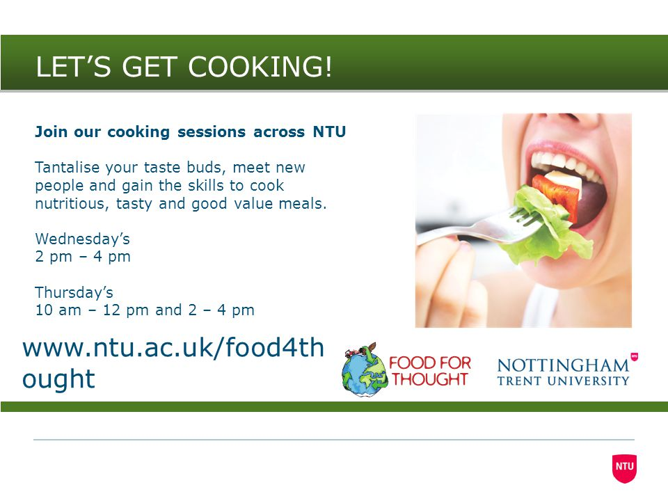 The sessions We have 4 sessions tailor-made for student living to produce main meals to share or to keep for another day: 04 October 20148