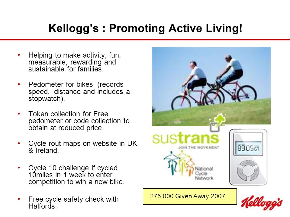 Kellogg's : Promoting Active Living.