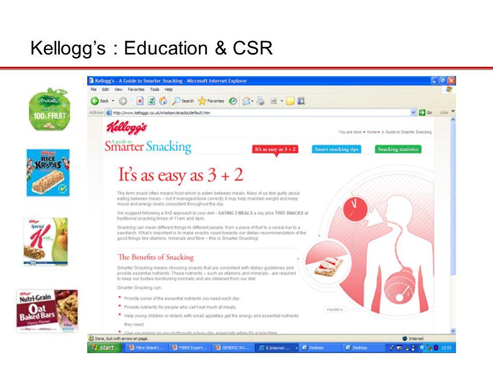 Kellogg's : Education & CSR