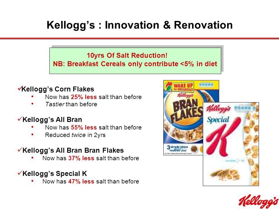 Kellogg's : Innovation & Renovation 10yrs Of Salt Reduction.