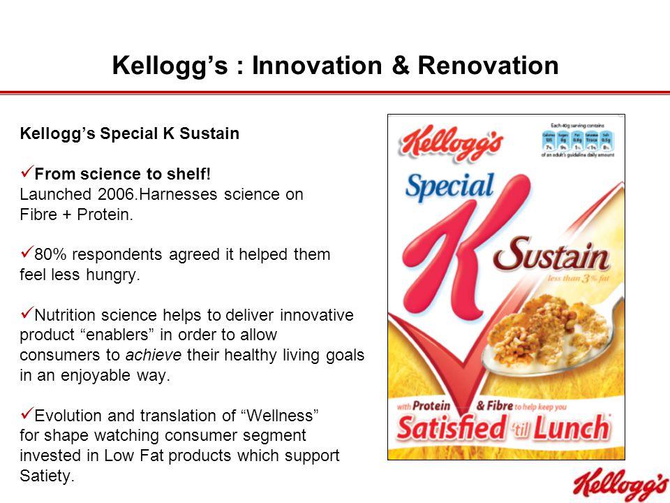 Kellogg's : Innovation & Renovation Kellogg's Special K Sustain From science to shelf.