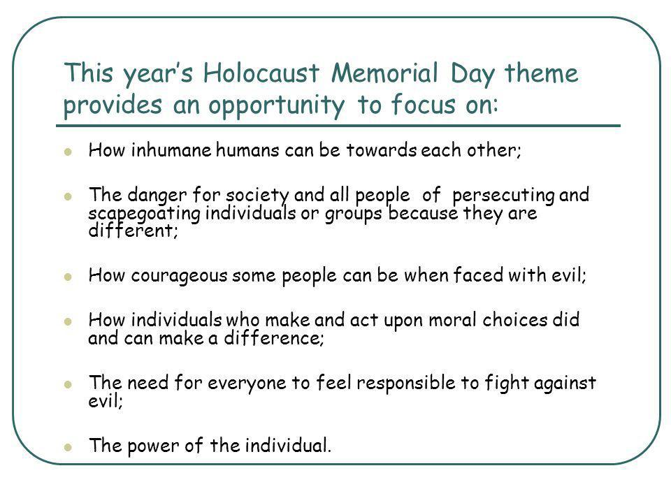 Holocaust Activities and starting points Where do prejudice, discrimination and genocide exist today.