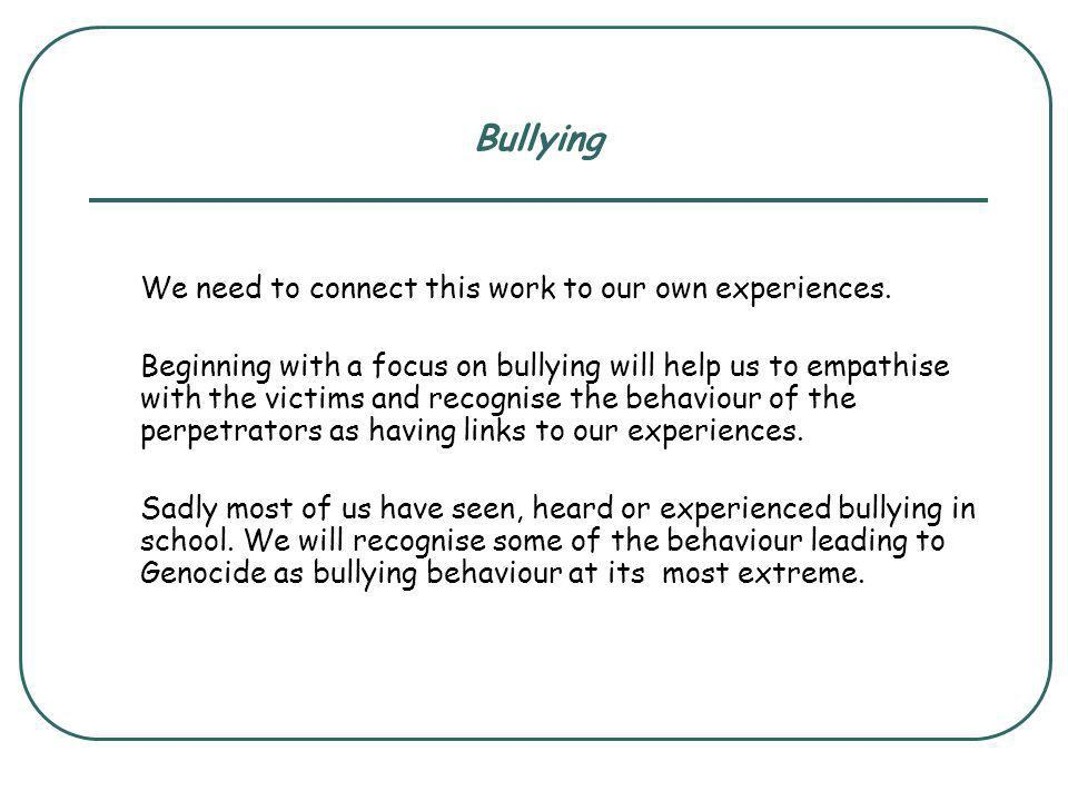 What do you know about bullying.