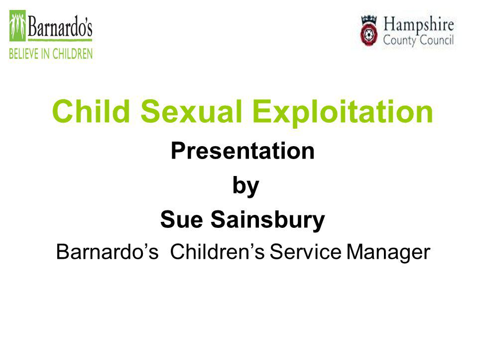  Child Sexual Exploitation is not new.