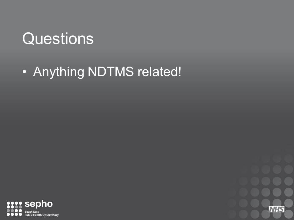 Questions Anything NDTMS related!