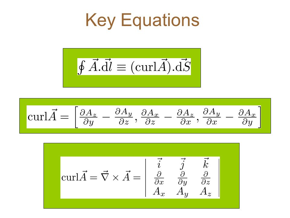 Key Equations