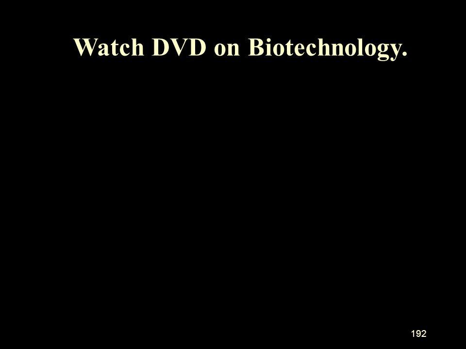192 Watch DVD on Biotechnology.