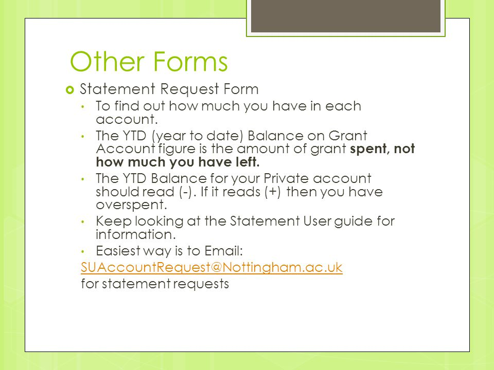 Other Forms  Statement Request Form To find out how much you have in each account.